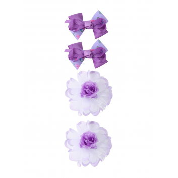 Аксессуары, Набор заколок и резинок 4 шт Arco Carino (фиолетовый)152432, фото