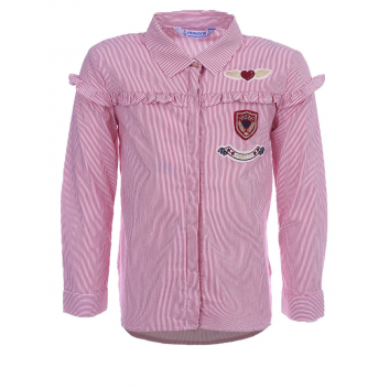 Девочки, Рубашка MAYORAL (красный)137494, фото