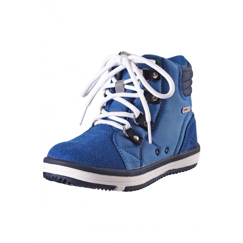БотинкиДемисезонные ботинки синегоцвета марки REIMA серии REIMA TEC для мальчиков. Полностью водонепроницаемые ботинки подходят для дождливой погоды. Верх выполнен из прочного текстиля и натуральной замши, все швы проклеены. Подкладка сшита из дышащей mesh-сетки с герметизированнымишвами. Подошва из термопластичной резины гарантирует хорошее сцепление с поверхностью, не скользит. Рисунок на подошве позволяет быстро определитьразмер, просто приложив ножку ребенка к подошве.<br>Съемные стельки с рисунком Happy Fit помогают подобратьправильный размер обуви. Светоотражающие детали отвечают всем нормам безопасности. К ботинкам прилагаются две пары шнурков: классические и эластичные для быстрого и легкого переобувания.<br><br>Размер: 30<br>Цвет: Синий<br>Пол: Для мальчика<br>Артикул: 619700<br>Страна производитель: Китай<br>Сезон: Всесезонный<br>Материал верха: Текстиль / Нат. кожа<br>Материал подкладки: Текстиль<br>Материал стельки: Текстиль<br>Материал подошвы: ТПР (термопластичная резина)<br>Бренд: Финляндия