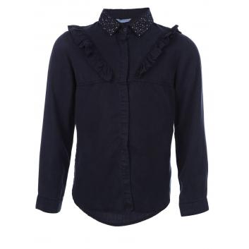 Девочки, Рубашка MAYORAL (темносиний)138665, фото