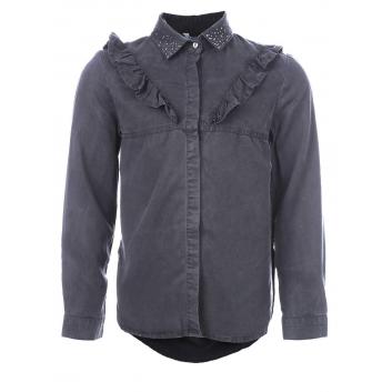 Девочки, Рубашка MAYORAL (темносерый)138670, фото