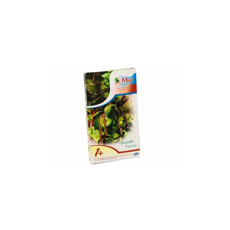 Мир на ладошке Природа РоссииНабор карточек Природа России из серии Мир на ладошке. Россия марки Умница- это уникальная энциклопедия в фотографиях, котораяподходит для малышей от 1 года.Вашего ребенкапорадуют 24яркие фотографии, на обороте каждой из которых можно найти удивительные факты о национальностяхРоссии, а также весёлые загадки, игры и творческие задания.<br>Играя с карточками ребенок найдет ответы на такие вопросы, как почему берёза — «дерево четырёх дел», какая птица умеет квакать, как лягушка, кого Пётр I спас от наводнения и многие другие. Благодаря интересным заданиям на карточках малыш сможет кормить голубей на улице, делать скворечники и даже искать у сирени пятилистные цветки, чтобы загадывать желания.<br>Занятия по «Миру на ладошке» просты и интересны, они не требуют от родителей специальнойподготовки. Совместные игры с этим комплектомулучшают внимание и память малыша, развивают эрудицию, обогащают словарный запас.<br>Карточки выполнены из качественных материалов, закругленные края безопасны для детей.<br><br>Возраст от: 12 месяцев<br>Пол: Не указан<br>Артикул: 619972<br>Страна производитель: Россия<br>Бренд: Россия<br>Размер: от 12 месяцев