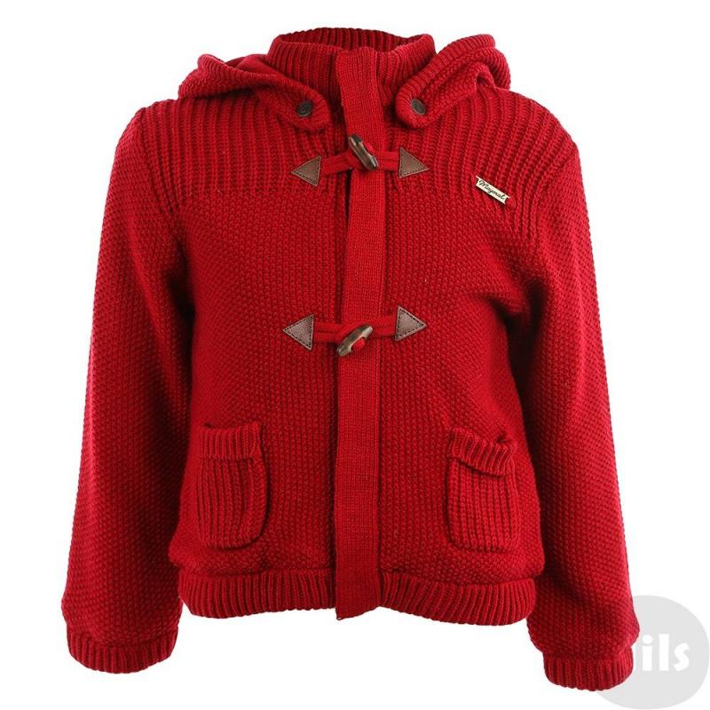 ЖакетВязаный жакет темно-красного цвета марки Mayoral для мальчиков. Жакет связан из смеси хлопка и акрила, дополнен мягкой флисовой подкладкой. Есть съемный капюшон на пуговицах и два кармана. Жакет застегивается на молнию и пуговицы моржовый клык.<br><br>Размер: 18 месяцев<br>Цвет: Красный<br>Рост: 86<br>Пол: Для мальчика<br>Артикул: 620069<br>Страна производитель: Китай<br>Сезон: Осень/Зима<br>Состав: 60% Хлопок, 40% Акрил<br>Состав подкладки: 100% Полиэстер<br>Бренд: Испания
