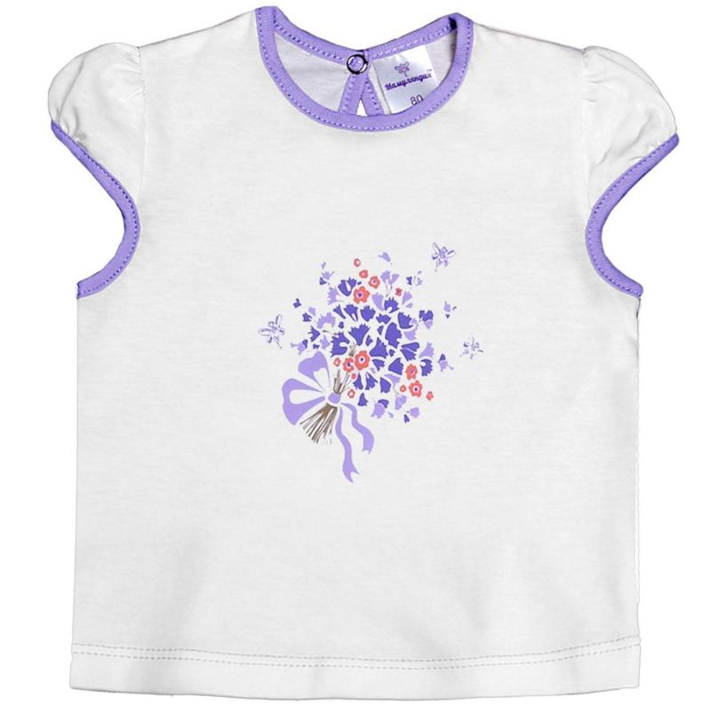 ФутболкаФутболка белогоцвета марки Мамуляндия для девочек. Футболка с коротким рукавомвыполнена из стопроцентного хлопка, украшена цветочным принтом с изображением букета цветов. Футболкаимеет кнопочную застежку на спинке.<br>Большемерит на размер.<br><br>Размер: 6 месяцев<br>Цвет: Белый<br>Рост: 68<br>Пол: Для девочки<br>Артикул: 620755<br>Страна производитель: Россия<br>Сезон: Всесезонный<br>Состав: 100% Хлопок<br>Бренд: Россия<br>Вид застежки: Кнопки