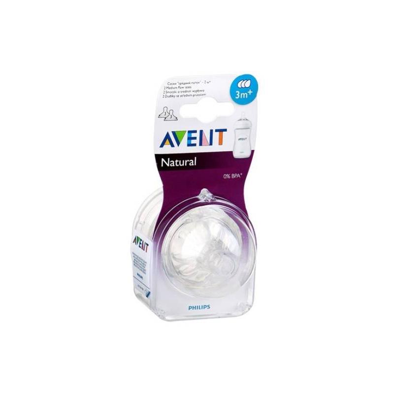 Соска средний поток 2 шт.Соска силиконовая Philips Avent средний поток Natural 2 шт.Соска со средним потоком Philips AVENT — это доказанная эффективность снижения риска возникновения колик у малыша. Имеет 3 отверстия, изготовлена из силикона и не содержит бисфенол-А. В упаковке 2 соски.<br>Инновационная лепестковая конструкция соски повторяет форму груди, позволяя легко комбинировать кормление грудью и кормление из бутылочки.- Специальные «лепестки» внутри соски делают ее более мягкой и гибкой, не позволяя соске сминаться, что создает дополнительный комфорт для ребенка во время кормления. Ребенок контролирует поток молока, как при естественном грудном кормлении.-Новая антиколиковая система с двойным клапаном более эффективно снижает вероятность возникновения колик, предотвращая попадание воздуха в животик малыша, пропуская его в бутылочку.-Средний поток, 3 отверстия.-Соска изготовлена из безопасного силикона и не содержит бисфенол А. В комплекте 2 соски.-Рекомендуется использовать только с бутылочкой Philips AVENT серии Natural.<br><br>Возраст от: 0 месяцев<br>Пол: Не указан<br>Артикул: 621084<br>Бренд: Англия<br>Размер: от 0 месяцев