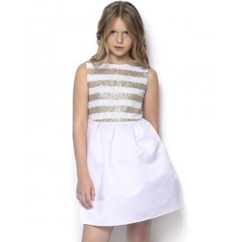 Девочки, Платье Мадама (белый)511399, фото
