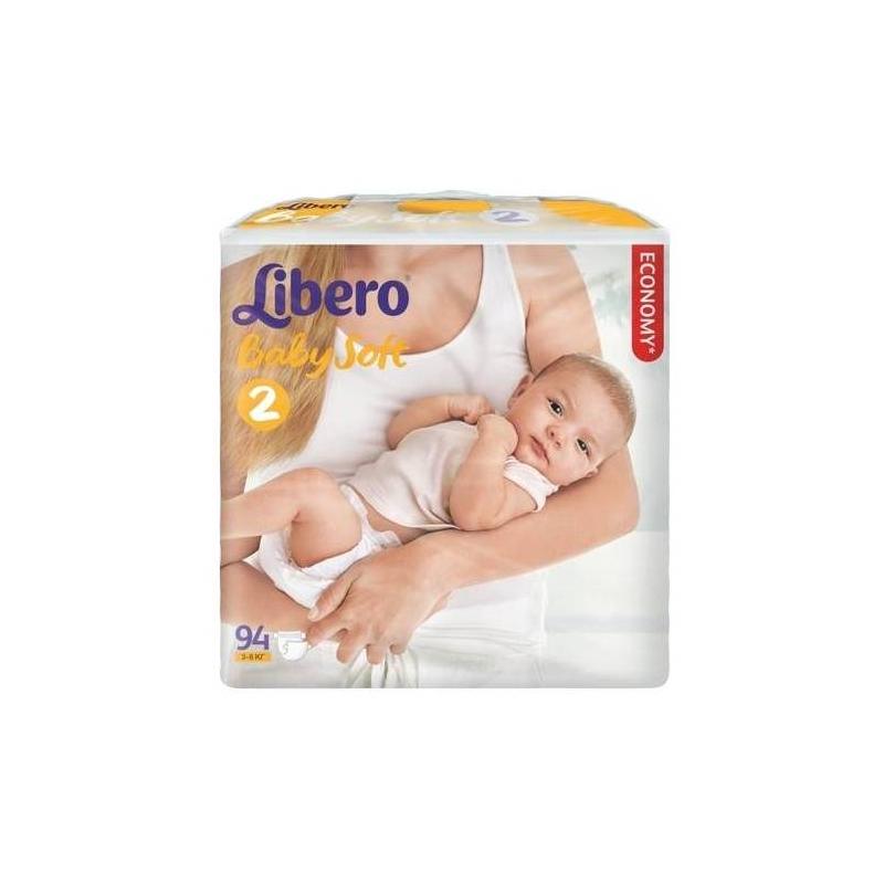 Подгузники Baby Soft (3-6 кг), 94 шт (Libero)