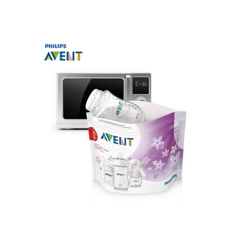 Пакеты для стерилизации в микроволновой печиПакеты Philips Avent для стерилизации в микроволновой печи.Удобные пакеты для стерилизации бутылочек и молокоотсоса в микроволной печи. Пакеты незаменимы для использования вне дома, когда чистота бутылочек имеет особое значение. В большой упаковке 5 стерилизационных пакетов. Каждый пакет рассчитан на 20 стерилизаций. Таким образом, упаковка рассчитана на 100 стерилизаций. Размеры пакета: 278 мм Х 210 мм.<br>Чистота бутылок это залог того, что ребенок получает свежую и здоровую пищу. Стерилизация бутылочек и молокоотсоса с помощью специальных пакетов для СВЧ-печи мгновенно (за 90 секунд) уничтожает 100 % микробов и бактерий.  На пакете есть окошко, в котором можно увидеть, что именно стерилизуется и в каком положении. Есть место для пометок, где вы можете написать, сколько раз пакет был использован. Объем стерилизационного пакета вмещает три бутылочки или один молокоотсос со всеми деталями. Извлекайте пакет из микроволновки за специальную область, чтобы избежать ожогов. Пользуйтесь инструкцией, которая есть на каждом пакете.<br><br>Возраст от: 0 месяцев<br>Пол: Не указан<br>Артикул: 621077<br>Бренд: Англия<br>Размер: от 0 месяцев