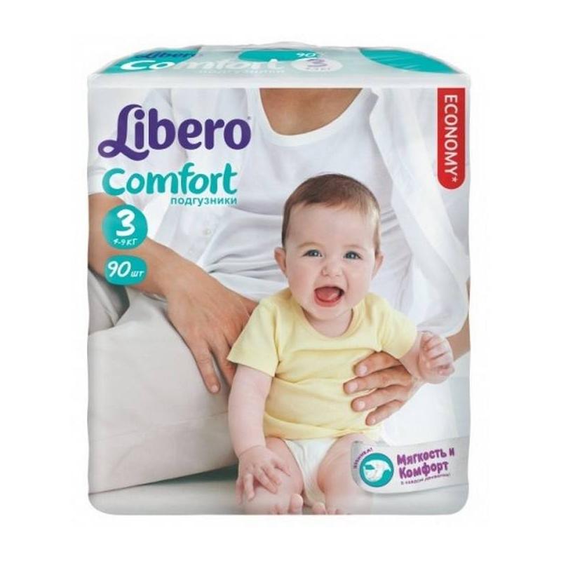 Подгузники Comfort (4-9 кг), 90 шт. Midi (Libero)