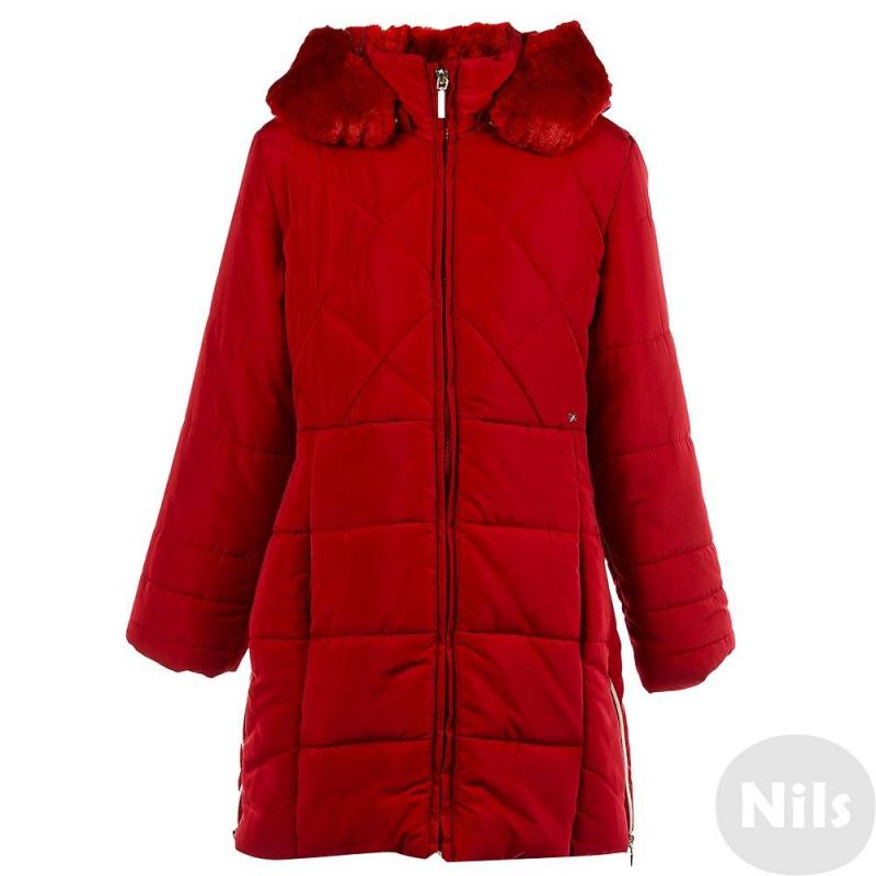 ПальтоТемно-синее пальто марки Mayoral для девочек. Осеннее пальтосо съемным капюшоном на кнопках имеет два кармана и удобные молнии на подоле по бокам. Капюшон отделан искусственным мехом. Пальто застегивается на молнию.<br><br>Размер: 10 лет<br>Цвет: Красный<br>Рост: 140<br>Пол: Для девочки<br>Артикул: 620614<br>Страна производитель: Китай<br>Сезон: Осень/Зима<br>Состав: 100% Полиэстер<br>Состав подкладки: 100% Полиэстер<br>Бренд: Испания<br>Вид застежки: Молния<br>Наполнитель: 100% Полиэстер