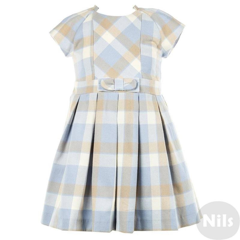 ПлатьеПлатье голубого цвета марки MAYORAL для девочек. Платье с коротким рукавом выполнено из хлопка с добавлением полиэстера, имеет рисунок в клетку. Завышенная линия талии украшена декоративным бантиком. Юбка имеет легкую плиссировку. Платье дополнено подкладкой.<br><br>Размер: 4 года<br>Цвет: Голубой<br>Рост: 104<br>Пол: Для девочки<br>Артикул: 620405<br>Страна производитель: Марокко<br>Сезон: Осень/Зима<br>Состав: 67% Полиэстер, 33% Хлопок<br>Бренд: Испания<br>Рукава: Короткие