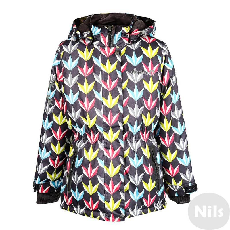 КурткаЗимняя куртка серо-желтого цвета с рисунком марки Crockid для девочек выполнена из водо- и ветронепроницаемого материала, который дышит и эффективно выводит лишнюю влагу в виде пара. Мембрана 5000 мм. Легкий и комфортный утеплитель нового поколения Fellex прекрасно сохраняет тепло, дышит.<br>Куртка имеет мягкую флисовую подкладку темно-серогоцвета, съемный капюшон на кнопках, а также эластичный шнурок со стопперами. Куртка имеет удобный пояс на резинке, два удобных кармана с клапанами, удобные трикотажные манжеты, а также множество светоотражающих деталей для безопасности ребенка.<br><br>Размер: 8 лет<br>Цвет: Желтый<br>Рост: 122-128<br>Пол: Для девочки<br>Артикул: 621372<br>Страна производитель: Китай<br>Сезон: Осень/Зима<br>Состав: 80% Полиэстер, 20% Полиуретан<br>Состав подкладки: 100% Полиэстер<br>Бренд: Россия<br>Наполнитель: 100% Полиэстер<br>Температура: до -20°