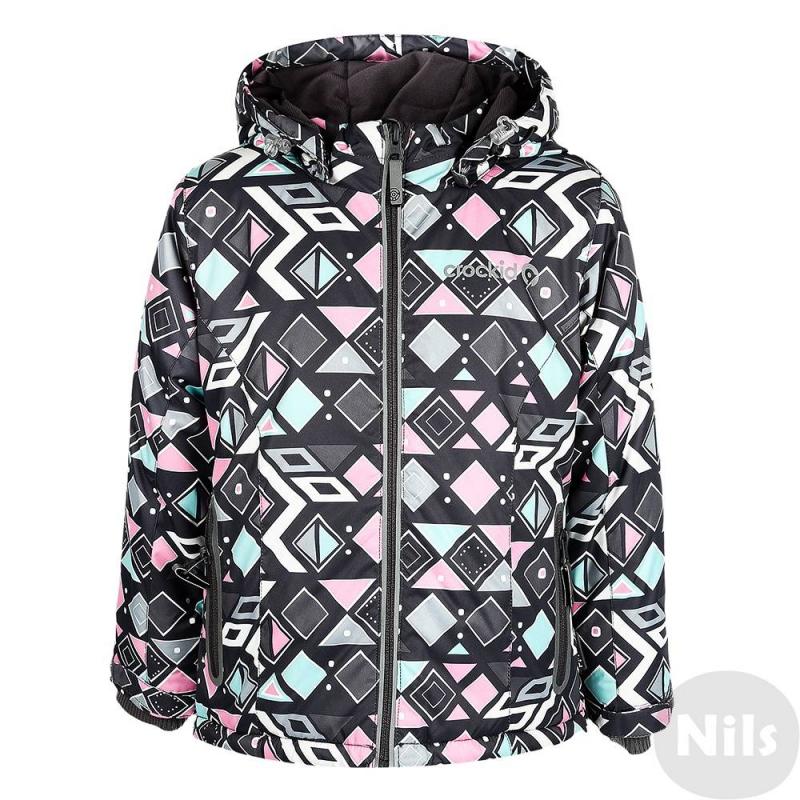 КурткаЗимняя куртка розовогоцвета с рисунком марки Crockid для девочек выполнена из водо- и ветронепроницаемого материала, который дышит и эффективно выводит лишнюю влагу в виде пара. Мембрана 5000 мм. Легкий и комфортный утеплитель нового поколения Fellex прекрасно сохраняет тепло, дышит.<br>Куртка имеет мягкую флисовую подкладку темно-серогоцвета, съемный капюшон на кнопках, два кармана с клапанами на поясе, удобные трикотажные манжеты, а также множество светоотражающих деталей для безопасности ребенка. Низ куртки регулируется эластичными шнурками со стопперами.<br><br>Размер: 6 лет<br>Цвет: Розовый<br>Рост: 110-116<br>Пол: Для девочки<br>Артикул: 621359<br>Страна производитель: Китай<br>Сезон: Осень/Зима<br>Состав: 80% Полиэстер, 20% Полиуретан<br>Состав подкладки: 100% Полиэстер<br>Бренд: Россия<br>Наполнитель: 100% Полиэстер<br>Температура: до -20°