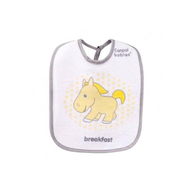 Нагрудник 3 шт.Нагрудники Canpol babies 3 шт.Эти симпатичные махровые нагрудники от польского бренда Canpol разработаны специально для непоседливых малышей. С ними кормление станет веселым и удобным как для ребенка, так и для его родителей.<br>Нагрудник от Canpol надежно защитит одежду ребенка от загрязнений, а вас – от лишней головной боли по поводу стирки.Клеенчатая подкладка с внутренней стороны и махровое покрытие с внешней не дадут нагруднику промокнуть. К тому же он очень мягкий, так что его края не будут натирать нежную кожу малыша. На нагрудниках изображены симпатичные зверюшки, которые обязательно понравятся вашему малышу.В комплекте 3 нагрудника с надписями на английском языке (Breakfast, Lunch, Dinner - завтрак, обед, ужин).Размер - 15х10х3 см.Материал изделия: махра.<br><br>Цвет: Серый<br>Пол: Не указан<br>Артикул: 621526<br>Бренд: Польша<br>Размер: Без размера