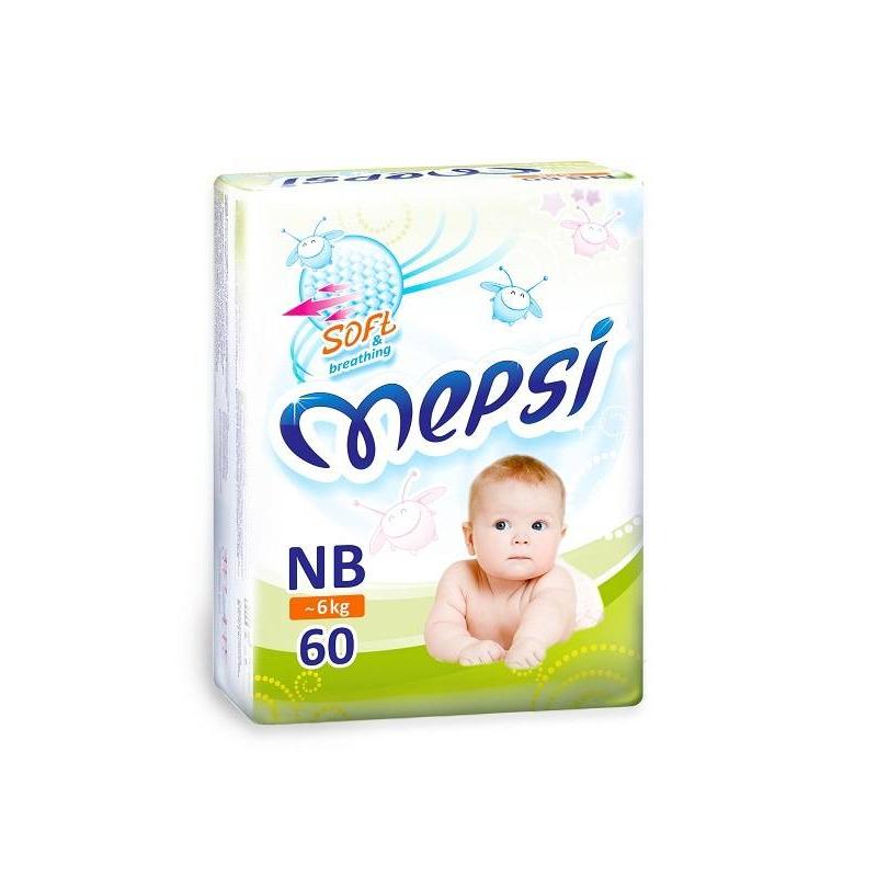 Mepsi Подгузники NB 0-6 кг 60 шт.