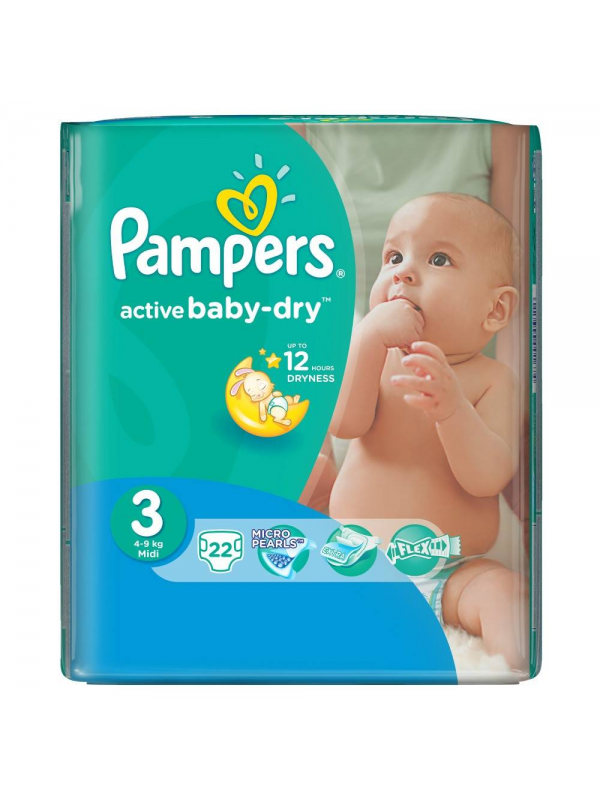 Подгузники  Active Baby midi (4-9 кг), 22 шт. Pampers