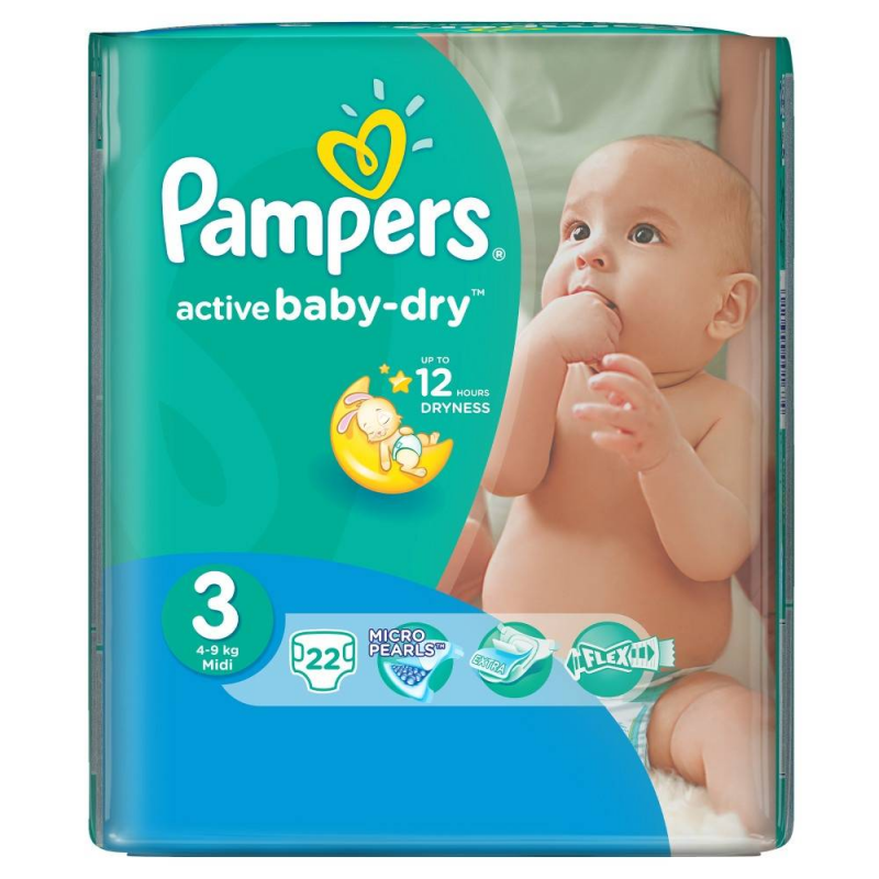 Pampers Подгузники Active Baby midi (4-9 кг), 22 шт. greenty подгузники greenty 5 13 кг 32 шт