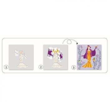 Творчество, Набор для творчества Бумажный декор Платья Djeco 530215, фото