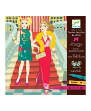 Набор для творчества - раскраска Вечерние платья Djeco