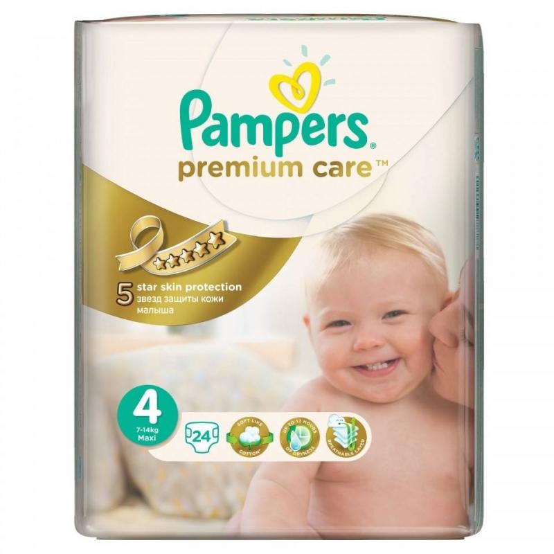 Pampers Подгузники Premium Care Maxi (7-14 кг), 24 шт.