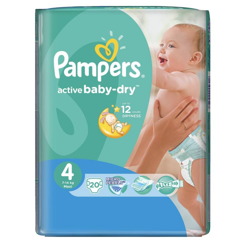 Pampers Подгузники  Active Baby Maxi (7-14 кг), 20 шт. подгузники pampers active baby dry maxi 7 14 кг 4 размер 70 шт