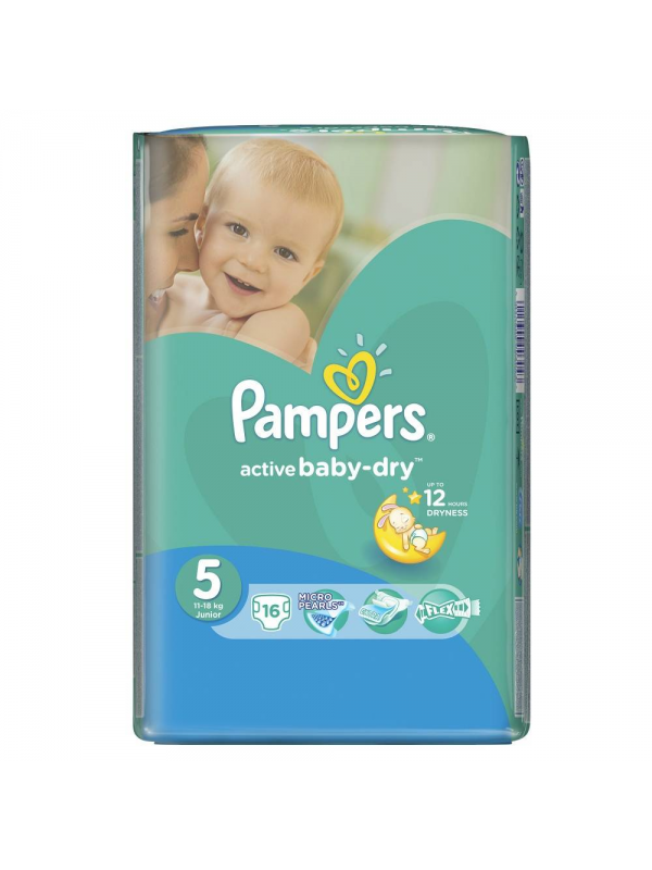 Подгузники  Active Baby Junior (11-18 кг), 16 шт. Pampers