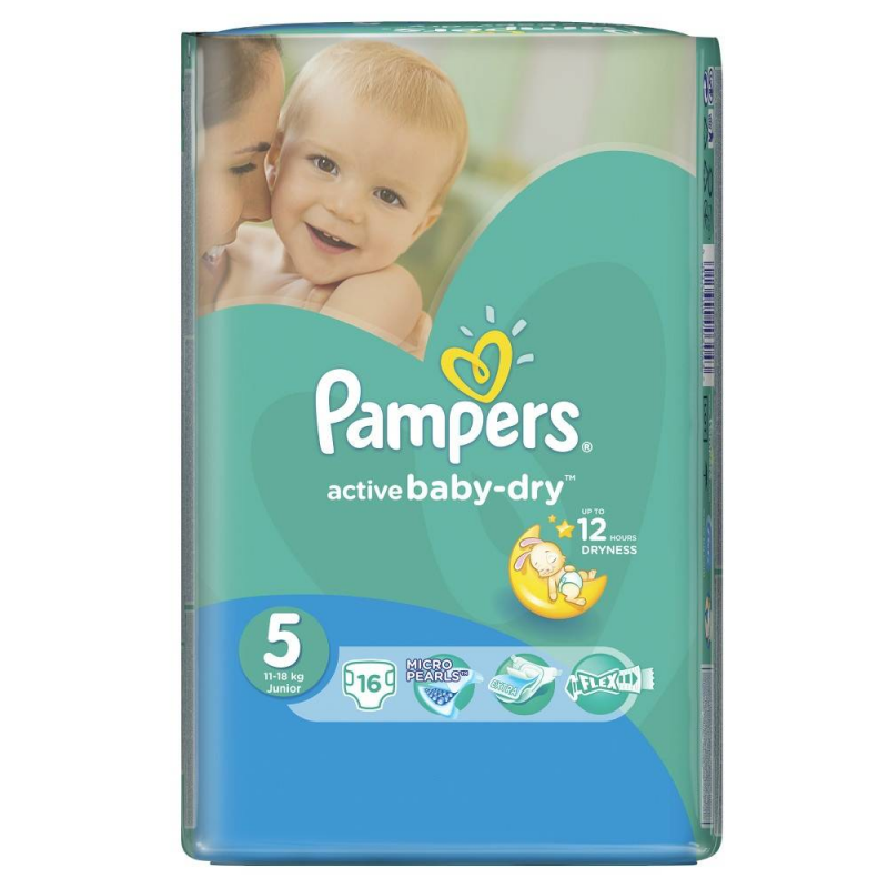 Pampers Подгузники Active Baby Junior (11-18 кг), 16 шт.