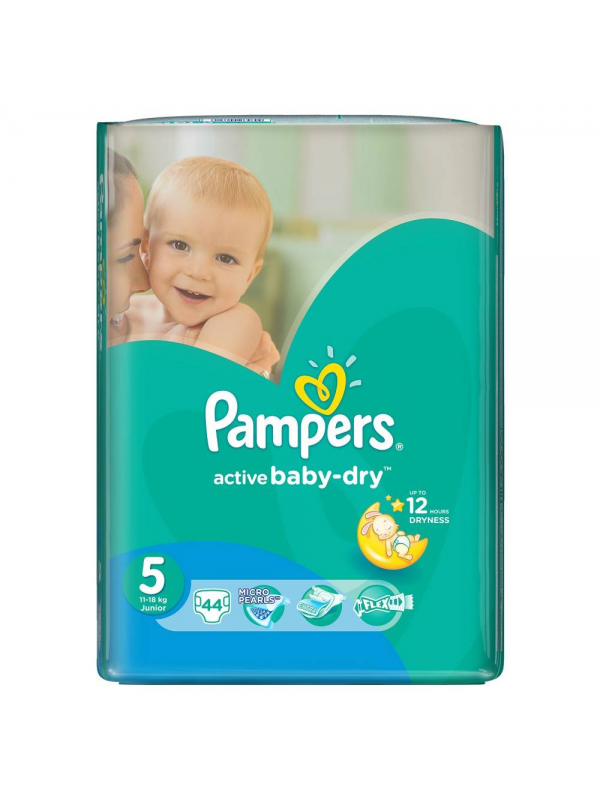 Подгузники Active Baby Junior 11-18 кг 44 шт Pampers