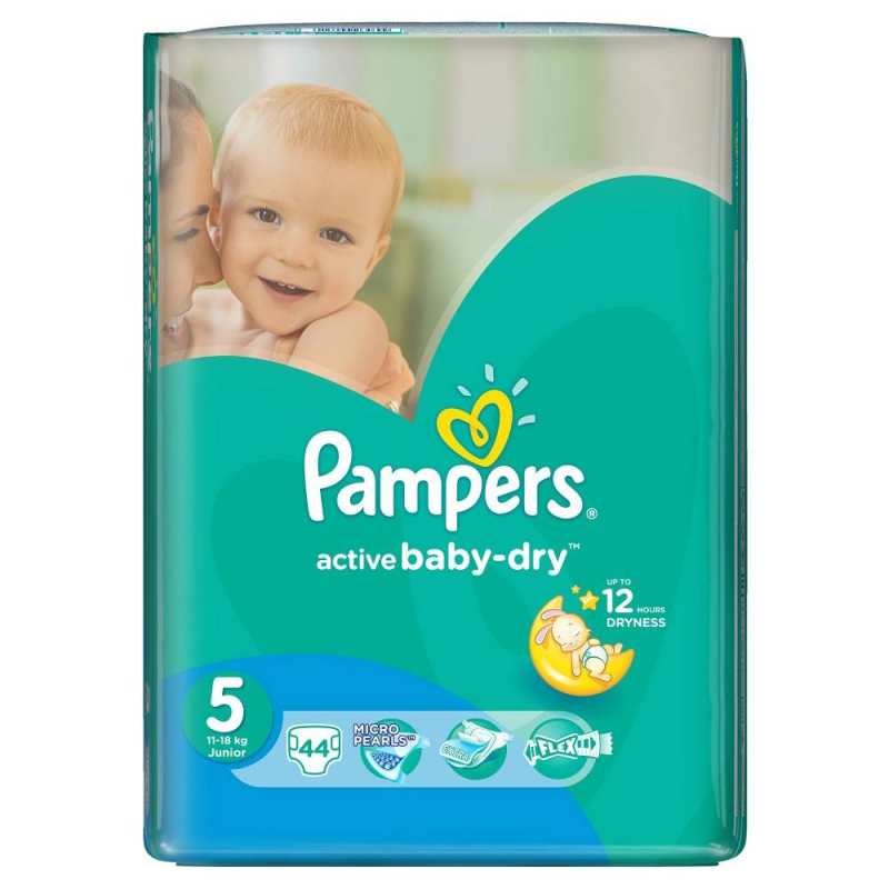 Pampers Подгузники Active Baby Junior (11-18 кг), 44 шт.