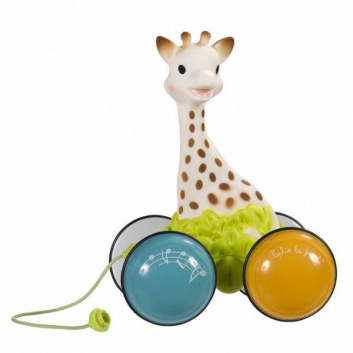 Игрушка-каталка Жирафик Софи гуляет с друзьями