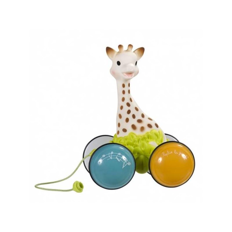 Vulli Игрушка-каталка Жирафик Софи гуляет с друзьями