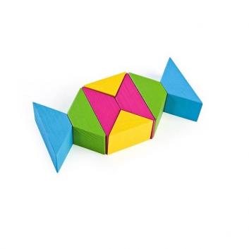 Конструктор Треугольники цветные