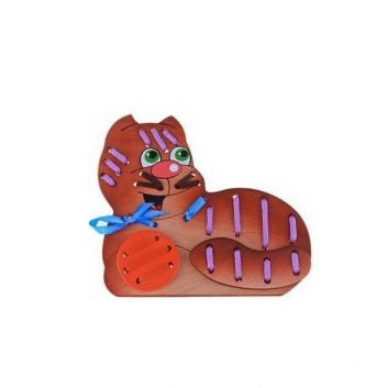 Игрушки, Игрушка-шнуровка Кот Морячок Крона 621898, фото