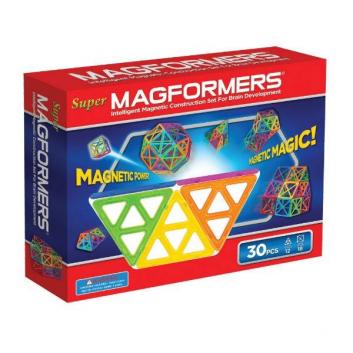 Игрушки, Магнитный конструктор Super, 30 деталей MAGFORMERS 637201, фото