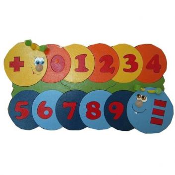 Игрушки, Пазл Учимся считать 39 деталей Крона 622497, фото