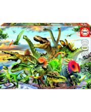 Пазл 500 деталей Динозавры Educa