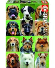 Пазл 500 деталей Коллаж собаки Educa