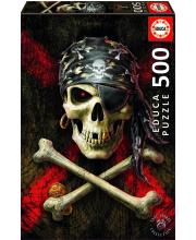 Пазл 500 деталей Пиратский череп Educa