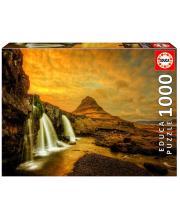 Пазл 1000 деталей Водопад Киркьюфетльсфос Исландия Educa