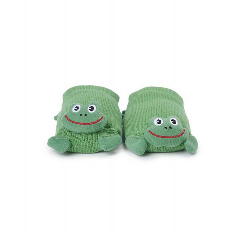 НоскиЗабавные носки марки Skiddersдля малышей.<br>Носочки зеленогоцвета декорированы мордочками милых лягушат.Носки прекрасно облегают ножку, обеспечивая комфорт. Подошва носков имеет противоскользящие прорезиненные элементы для безопасности вашего малыша.<br>Носочки универсального размера, подходят малышам от 0 до 12 месяцев.<br><br>Размер: 12 месяцев<br>Цвет: Зеленый<br>Рост: 55-80<br>Пол: Не указан<br>Артикул: 622867<br>Страна производитель: Китай<br>Сезон: Всесезонный<br>Состав: 75% Хлопок, 20% Нейлон, 5% Латекс<br>Бренд: США