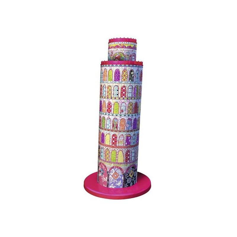 3D Пазл Тула Мун - Пизанская башня 216 деталей3D Пазл RAVENSBURGER Тула - Мун Пизанская башня 216деталей. Этот необычный 3D пазл станет замечательным подарком ребенку. Благодаря особой форме деталей, собирать его очень легко, а в итоге получается красивая фигурка Пизанской башни в стиле известного дизайнера Стефа Деккера, которая может стать оригинальным украшением детской комнаты.<br>3D пазлы - это уникальная серия пазлов, которые в собранном виде образуют объемную трехмерную фигуру.Для сборки не нужен клей: благодаря своей форме кусочки картинки отлично соединяются между собой. Детали пронумерованы с обратной стороны, чтобы собирать картинку было еще легче. К тому же играть с этим пазлом не только весело, но и полезно: ребенок будет развивать мелкую моторику, внимательность, пространственное мышление.В наборе 216элементов.Материал: пластик.<br><br>Возраст от: 10 лет<br>Пол: Не указан<br>Артикул: 622547<br>Бренд: Германия<br>Размер: от 10 лет<br>Количество деталей: от 201 до 300<br>Тематика: Достопримечательности