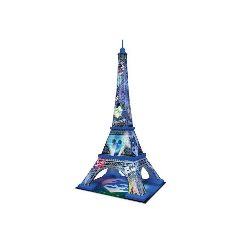 3D Пазл Микки и Минни - Эйфелева башня 216 деталей3D Пазл RAVENSBURGER Микки и Минни - Эйфелева Башня 216деталей. Этот необычный 3D пазл станет замечательным подарком ребенку. Благодаря особой форме деталей, собирать его очень легко, а в итоге получается красивая фигурка Эйфелевой башни, которая может стать оригинальным украшением детской комнаты.<br>3D пазлы - это уникальная серия пазлов, которые в собранном виде образуют объемную трехмерную фигуру.Для сборки не нужен клей: благодаря своей форме кусочки картинки отлично соединяются между собой. Детали пронумерованы с обратной стороны, чтобы собирать картинку было еще легче. К тому же играть с этим пазлом не только весело, но и полезно: ребенок будет развивать мелкую моторику, внимательность, пространственное мышление.В наборе 216элементов.Материал: пластик.<br><br>Возраст от: 12 лет<br>Пол: Не указан<br>Артикул: 622549<br>Бренд: Германия<br>Размер: от 12 лет<br>Количество деталей: от 201 до 300<br>Тематика: Достопримечательности