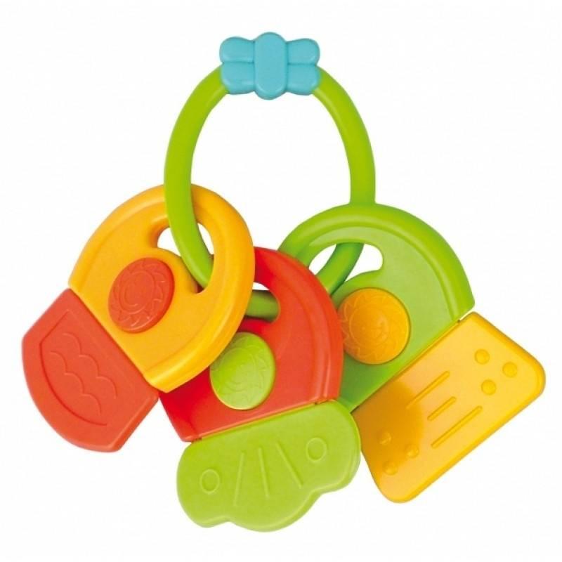 Погремушка-прорезывательПогремушка-прорезывательот бренда Canpol Babies желто-зеленого цвета.<br>Погремушка-прорезыватель Canpol пригодится малышу, если первые зубики даются ему с трудом. Набрав в этот предмет охлажденную воду, Вы сможете облегчить боль ребенка.<br>Погремушка-прорезыватель представляет собой ключики-резервуары, надетые на общее кольцо. Погремушка изготовлена из безопасных нетоксичных материалов. Ударопрочный пластик герметичен, его невозможно сломать или прокусить. Для успокоения припухших десен малыша необходимо по очереди открыть каждый ключик и наполнить его водой.<br><br>Возраст от: 0 месяцев<br>Пол: Не указан<br>Артикул: 622619<br>Бренд: Польша<br>Размер: от 0 месяцев