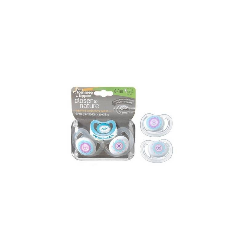 Tommee Tippee Пустышки C-Air, 2 шт. (0-3 мес)