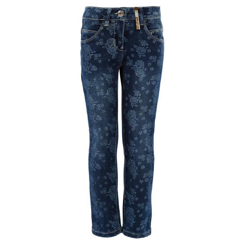 ДжинсыСиние джинсы с цветочным принтом марки SARABANDA для девочек. Джинсы стрейч с подкладкой из тонкого хлопкового трикотажа подходят для холодной погоды. Голубой цветочный принт сделан вручную. Джинсы имеют по два кармана спереди и сзади, застегиваются на молнию и брючную застежку-крючок (с декоративной пуговицей). Пояс регулируется с помощью специальных пуговиц на внутренней стороне.<br><br>Размер: 2 года<br>Цвет: Синий<br>Рост: 92<br>Пол: Для девочки<br>Артикул: 601648<br>Бренд: Италия<br>Страна производитель: Китай<br>Сезон: Осень/Зима<br>Состав: 75% Хлопок, 23% Полиэстер, 2% Эластан<br>Состав подкладки: 95% Хлопок, 5% Эластан