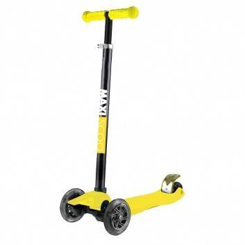 Спорт и отдых, Самокат Junior со светящимися колесами Maxiscoo (желтый)171197, фото