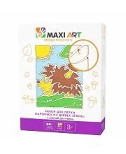 Набор для Лепки Картинка из Дерева Ёжик Maxi Art