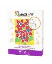 Набор для Лепки Картинка из Дерева Букет Maxi Art
