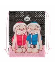 Мешок для Обуви Заяц Жак и Зайка Лин в Зимней Одежде Maxitoys