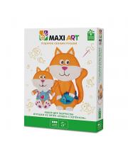 Набор для Творчества Игрушки из Фетра Кошка с Котёнком Maxi Art